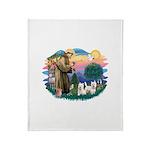 St.Francis #2/ Westies (2) Throw Blanket