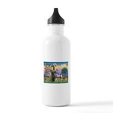 St Francis / Whippet Water Bottle