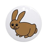 Brown Bunny Ornament (Round)