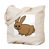 Brown Bunny Tote Bag