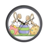Easter Bunny Inside Easter Egg Wall Clock
