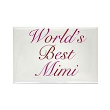 World's Best Mimi Rectangle Magnet