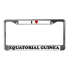 I Love Equatorial Guinea License Plate Frame