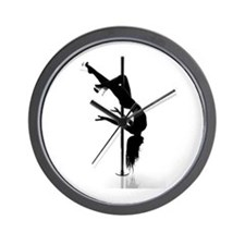 Funny Pole dancer Wall Clock
