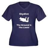 Skydive Ground Limit! Women's Plus Size V-Neck Dar