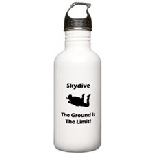 Skydive Ground Limit! Sports Water Bottle