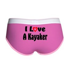 I Love A Kayaker Women's Boy Brief