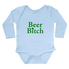 Beer Bitch Long Sleeve Infant Bodysuit