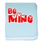 Be Mine Valentines Day Hearts baby blanket