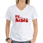Be Mine Valentines Day Hearts Women's V-Neck T-Shi