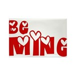 Be Mine Valentines Day Hearts Rectangle Magnet