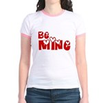 Be Mine Valentines Day Hearts Jr. Ringer T-Shirt