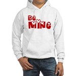 Be Mine Valentines Day Hearts Hooded Sweatshirt