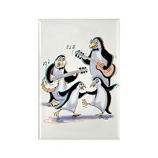 pEnGuInS sWiNgInG Rectangle Magnet (10 pack)