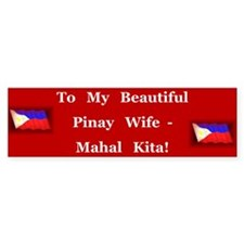 Mahal Kita Wife Bumper Bumper Sticker