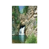 Glacier National Park Waterfall Rectangle Magnet