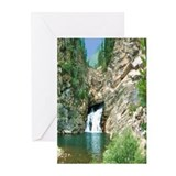 Glacier National Park Waterfall Greeting Cards (Pa