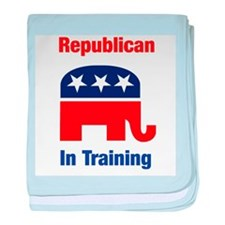 Republican In Training baby blanket