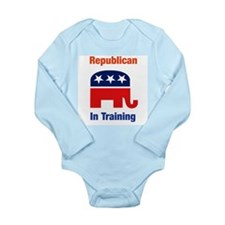 Republican In Training Long Sleeve Infant Onesie