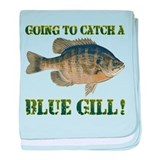 Blue Gill Fishing baby blanket