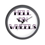 Hell On Wheels Wall Clock