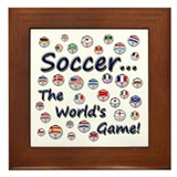 Soccer...The World's Game! Framed Tile