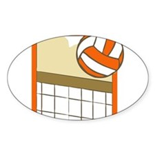 VOLLEYBALL {14} : orange Decal
