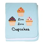 Live Love Cupcakes baby blanket