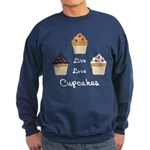 Live Love Cupcakes Sweatshirt (dark)