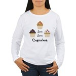 Live Love Cupcakes Women's Long Sleeve T-Shirt