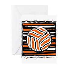 VOLLEYBALL {18} : orange Greeting Card