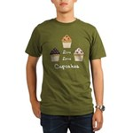 Live Love Cupcakes Organic Men's T-Shirt (dark)