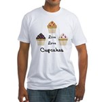 Live Love Cupcakes Fitted T-Shirt