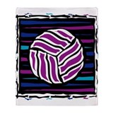VOLLEYBALL {18} : purple/blue Throw Blanket