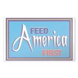 Feed America First Decal