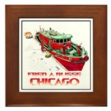 Cute Chicago fire Framed Tile