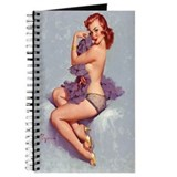 Vintage Red Head Pinup Girl Journal