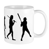 The Evolution Of The Softball Batter Small Mug