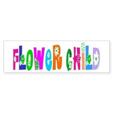 flower child Bumper Bumper Sticker