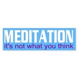 meditation... Bumper Car Sticker