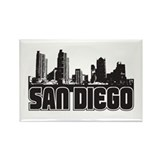 San Diego Skyline Rectangle Magnet