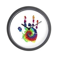 Tie Dye Jerry Hand Wall Clock