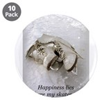 "Happiness Lies Where My Skate 3.5"" Button (10 pack"
