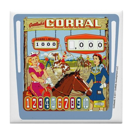 "Gottlieb® ""Corral"" Tile Coaster"
