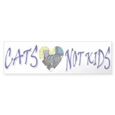 Bumper Sticker - Cats, Not Kids