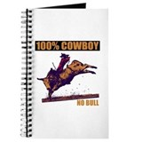 100% Cowboy Unlined Journal