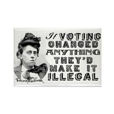 Emma Goldman Voting Rectangle Magnet