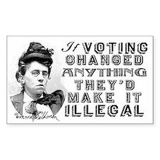 Emma Goldman Voting Decal