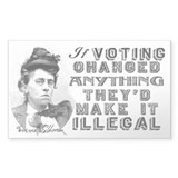 Emma Goldman Voting Stickers