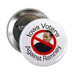 Iowa Voters Against Romney campaign pin
